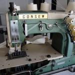 Ραπτομηχανή Consew τετραβέλονο λαστοιχομηχανή με ερπίστρια